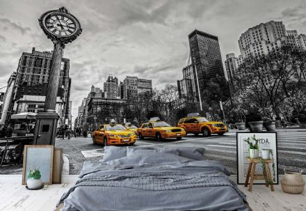 Wallpaper mural - easy install New York City Cabs